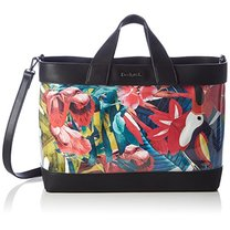 Shopper Desigual Tropical navy