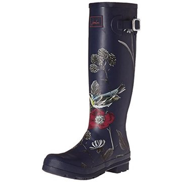 Cizme de cauciuc Wellington model navy floral 2
