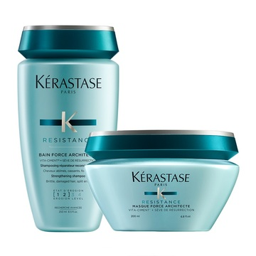 Kerastase Resistance Bain Force Architecte Strengthening Sampon + Masca