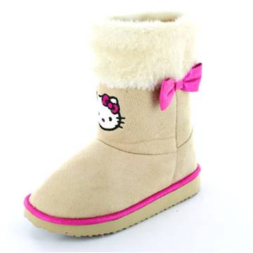 Cizme gen UGG Hello Kitty bej cu fundita